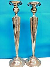 Antique Sterling Silver Candle Holder Height : 14 inches, Pair, PRICE REDUCED