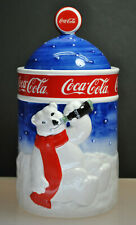 ***ULTRA RARE*** 1998 COCA COLA LIDDED COOKIE JAR / CANISTER COLLECTORS DREAM!!!
