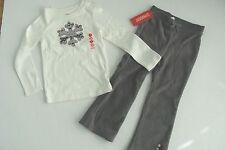 Gymboree Holiday Penguin Chalet Girls Size 5 Top Size Fleece Pants NWT