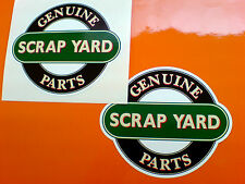 GENUINE SCRAP YARD PARTS Kit Car 4 x 4 Hot Rod Stickers Decals 2 off 90mm