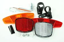 COMPLETE BICYCLE BIKE WHEEL/SPOKE FRONT&REAR SAFETY REFLECTOR SET NEW