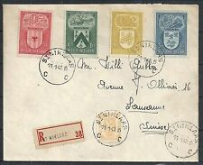 Belgium 1947 mixed franked R-cover St.Niklaas to Lausanne