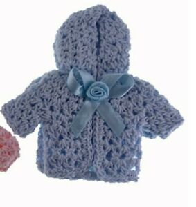 Miniature Dollhouse Accessories Hand Crocheted Dolls Hoody Cardigan 1/12th scale