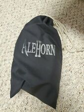 """AleHorn Authentic Drinking Horn Curved Style with Stand - Polished Finish - 12"""""""