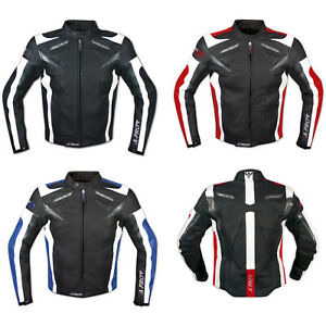 Leather Jacket Motorcycle Racing Apparel Sport CE Armored A-Pro