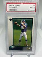1998 Bowman Chrome Preview Ryan Leaf PSA 10 - San Diego Chargers Football Card