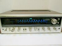 Vintage Pioneer SX-737 AM / FM Home Stereo Receiver Wood case Silver Face LED`s