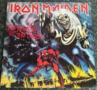 LP Iron Maiden - The Number Of The Beast -1982 UK 1st PRESS VINYL EMC 3400 EX/EX