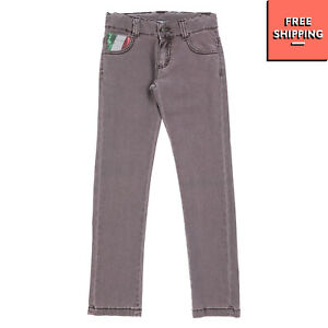 RRP €145 MARINA MILITARE Jeans Size 7Y Stretch Garment Dye Sequins