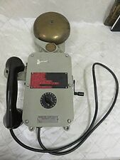 Vintage Henschel 70-525 TY176 Sound Powered Phone Crank Operated WITH BELL RARE