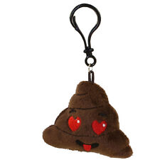 Rhode Island Novelty - Poop Emoticon Plush Key Clip - HEART EYES (2.75 inch)