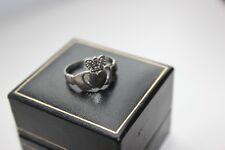 9ct White Gold Claddagh Ring Engagement Ring or Lovely Gift
