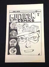 """June 1972 """"Multicon"""" comics #1 Comic Convention Program Texas"""
