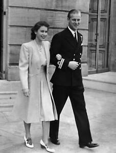 Princess Elizabeth and Philip Mountbatten 1947 ROYALTY OLD PHOTO