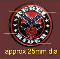 Rebel Rider Motorcycle Pin Badge Enamel American Southern States Confed