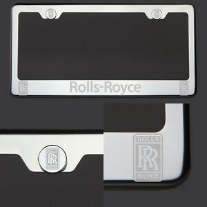 T304 Chrome Polished Rolls Royce Laser Etched Engraved License Plate Frame Tag