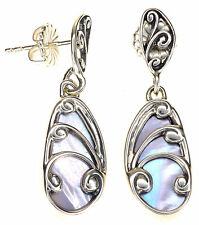 Carolyn Pollack Violet Mother-of-Pearl Butterfly Dangle Sterling Silver Earring