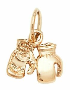 9ct Yellow Gold Double Boxing Glove Pendant