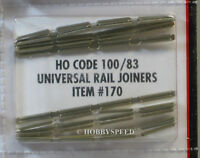 ATLAS HO CODE 83 TO 100 UNIVERSAL RAIL JOINERS nickel silver train track 170 NEW