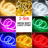 LED Strip Neon Flex Rope Light Waterproof DC 12V Flexible Outdoor Lighting UK