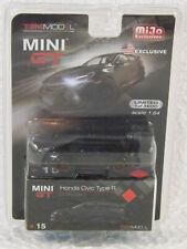 Toy Car Honda Civic Type R FK8 Crystal Black 1:64 Diecast MGT000015 New [GS c5]
