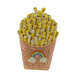 Crystal clutch Evening party purse bag French Fries  US SELLER