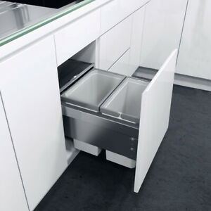 Vauth Sagel 400mm ENVI Space 20L Double Pull Out Recycling Kitchen Bin SOFTCLOSE