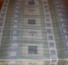 Gardinenstoff Doppelgewebe grafisches Muster helloliv graublau weiß 4 Meter