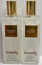 2 Victoria's Secret Heavenly Shimmer Fragrance Mist 8.4oz. Body Splash Spray