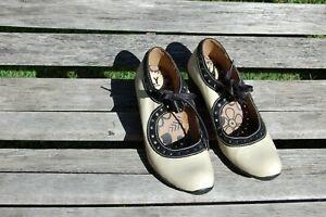 Fly London Shoes, Pumps Size Eu 39 Au 7.5 Beige and Black Pre Loved