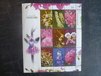 2008 THAILAND ORCHIDS 9 STAMP MINI SHEET MNH