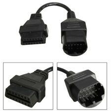17Pin OBD1 to 16Pin OBD2 OBDII Diagnostic Connector Adapter Cable Wire for Mazda