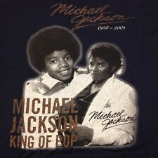 Michael Jackson King Of Pop Navy Blue 2XL T-Shirt Thriller Motown