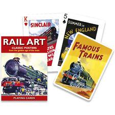 Piatnik Rail Art Classic Posters Playing Cards, Trains, Transport, History P1511