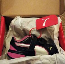 PUMA TAZON 6 SL WIDE KIDS BLACK PINK SILVER SNEAKERS TENNIS SHOES NEW IN BOX NWT