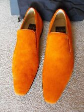 RARE NIB $1,900 ALDO BRUE ITALY Orange Pony Hair Loafers size US 11 UK 10 EU 44