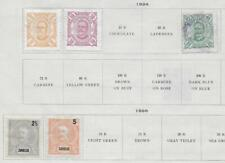 5 Zambesia Stamps from 19th Century Brown Scott Album 1894-1898