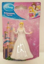 "Disney Princess Figurine Cinderella 3"" Toy Cake Topper White Dress Ball Gown 3+"