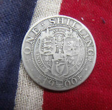 1900 Victoria silver One Shilling Vieled head coin good clear condition