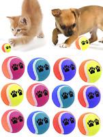 AQS Coloured Pet Ball Tennis Ball Pet Puppy Cat Kitten Play Balls Indoor Outdoor