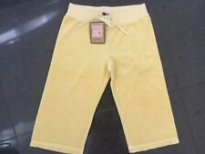 NWT Juicy Couture New & Gen. Yellow Cotton Towelling Crop Leg Pants Girls Age 8