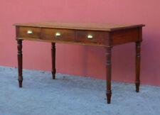 Scrittoio tavolo scrivania in larice, tre cassetti, fine '800 - L 144 x P 75 cm!