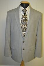 J. Crew Thompson Men's Gray Wool 2 Front Buttons Sports Coat Size 44L