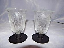 Pair Lot 2 - Vintage Homco Home Interiors Angel Votive Cups Holders, New Grommet