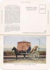 Calèche & Tour Martello Ville de QUEBEC City QC Canada 1930-50 FOLKARD Postcard