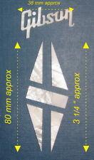 Set of Mother of Pearl Guitar Headstock Logo + Diamond #TGD33