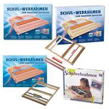 Allgäuer - Webrahmen Schulwebrahmen Holz Wolle Basteln mit 2 Schiffchen und Kamm