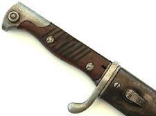 WW1 German / Prussian Mauser Sg98/05nA Butcher Sword Bayonet & Scabbard - 1916