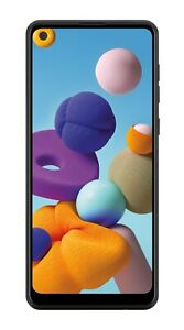 US Cellular Samsung Galaxy A21 32GB Prepaid, Black - Brand New