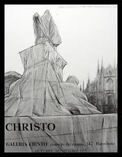 Christo Galeria Ciento Poster Bild Kunstdruck mit Alu Rahmen in schwarz 71x56cm